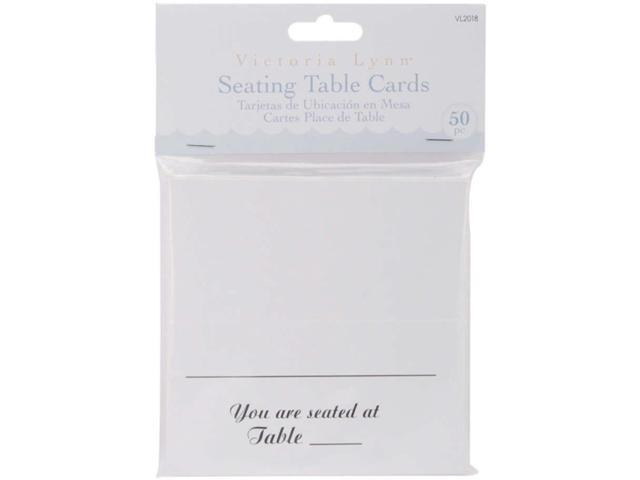 Victoria Lynn Seating Table Cards 50/Pkg-White