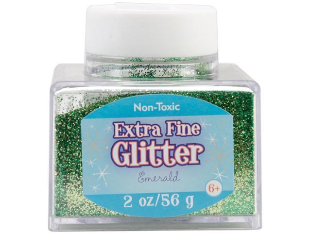 Fine Glitter 2 Ounces-Emerald