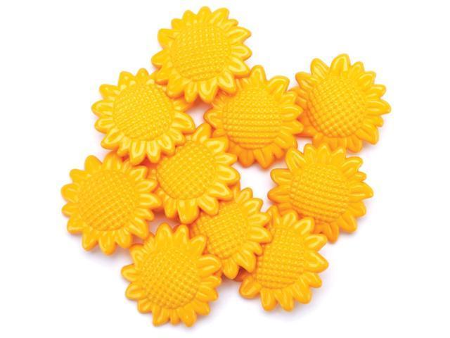 Favorite Findings Buttons-Sunflower Garden 9/Pkg