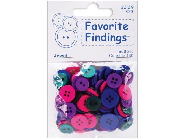 Favorite Findings Buttons 130/Pkg-Jewel