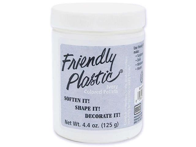 Friendly Plastic Pellets 4.4oz-Ivory