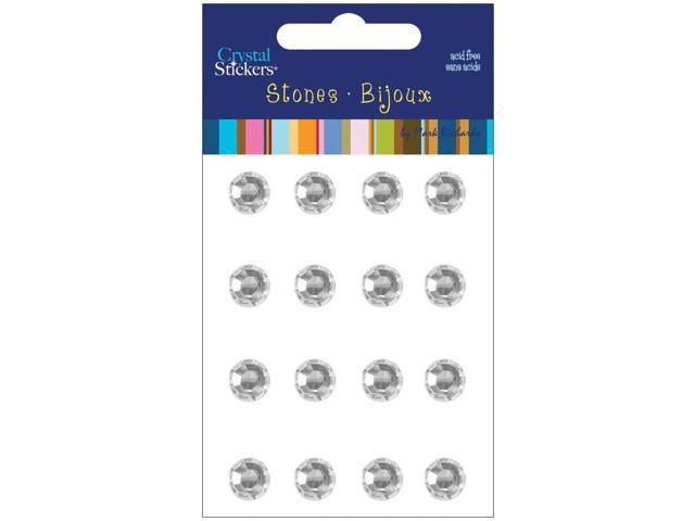 Crystal Stickers Stones 10mm Round 16/Pkg-Clear