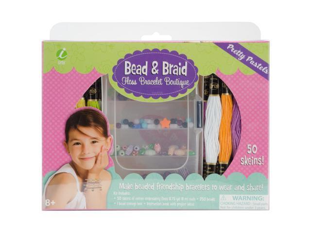 Iris Bead & Braid Floss Bracelet Boutique-Pretty Pastels