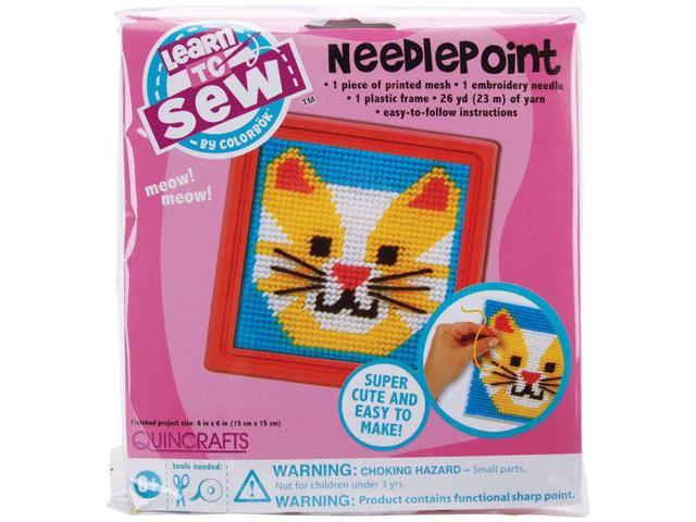 Sew Cute! Cat Needlepoint Kit-6