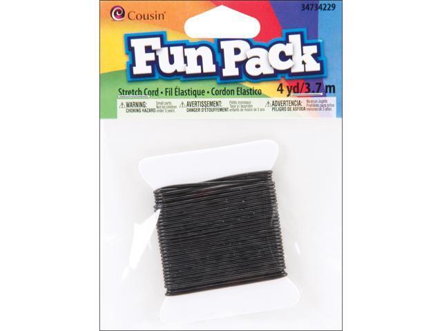 Fun Pack Stretch Cord 1mmX4yd-Black