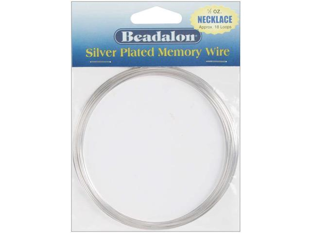 Memory Wire Necklace .62mm .5oz-Silver-Plated - 18 Coils