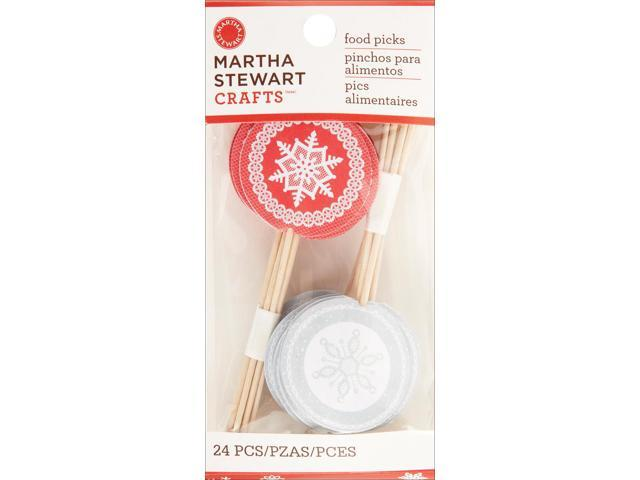 Food Picks-Snowflake 24/Pkg