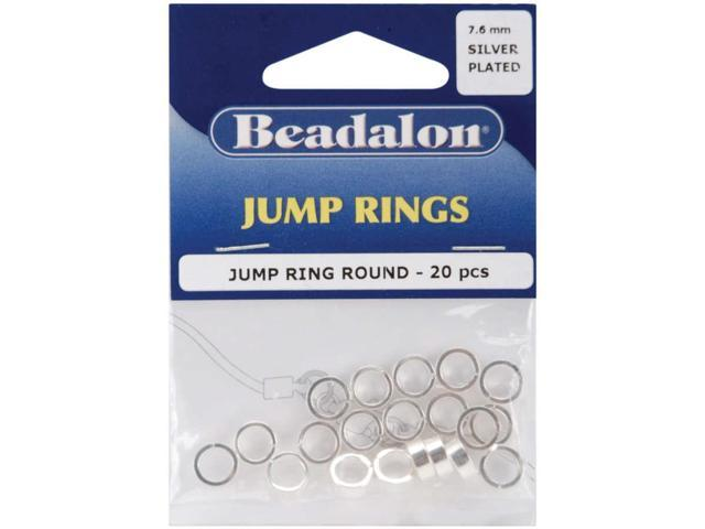 Jump Rings 7.6mm 20/Pkg-Silver-Plated