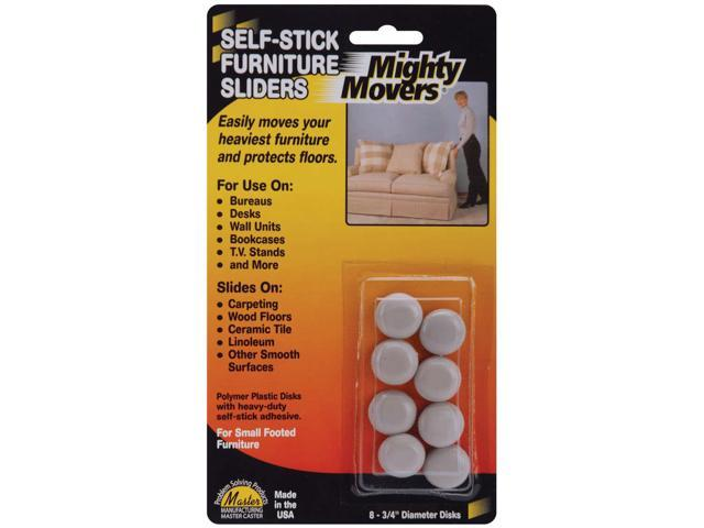 Mighty Movers Self-Stick Furniture Sliders-.75
