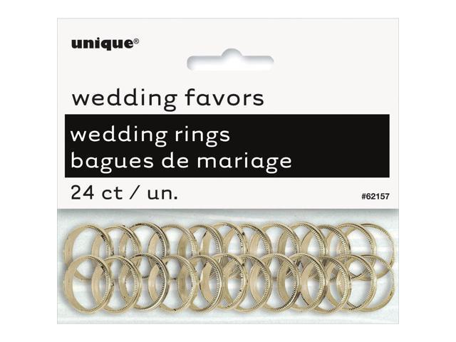 Wedding Rings 24/Pkg-Gold