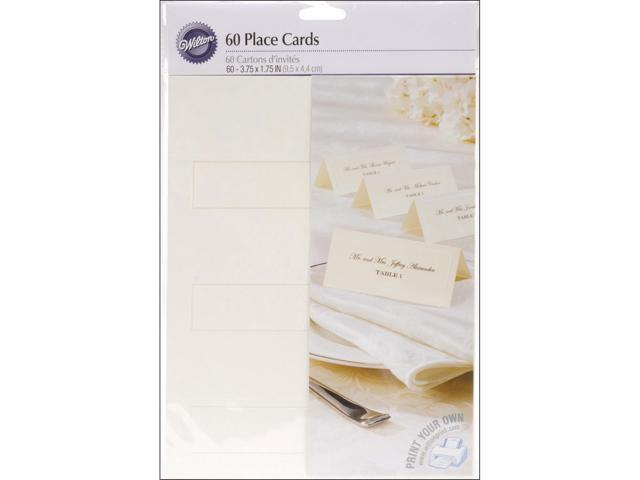 Place Cards 60/Pkg-Ivory W/Silver Border