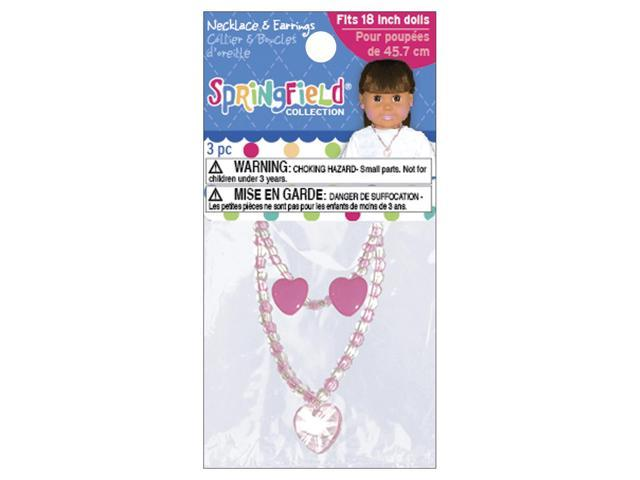 Springfield Collection Jewelry Set-Pink Necklace & Earrings