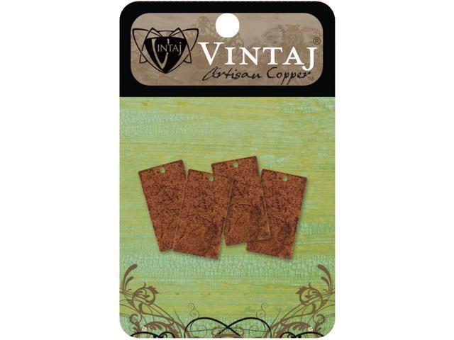 Vintaj Metal Altered Blanks-Rectangles 22.5mmX12.5mm 4/Pkg