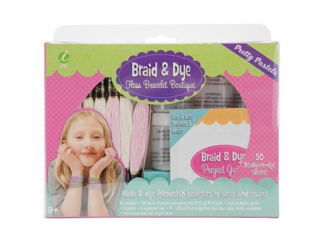 Iris Braid & Dye Floss Bracelet Boutique-Pretty Pastels