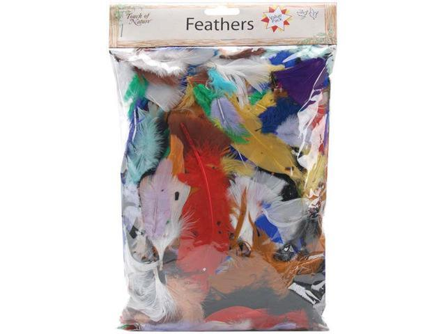 Packaged Feathers 71g-Assorted Colors