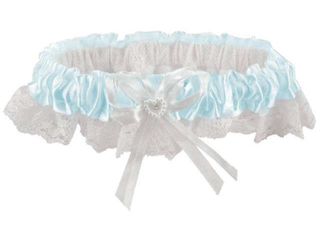 Victoria Lynn Lace Garter-Light Blue