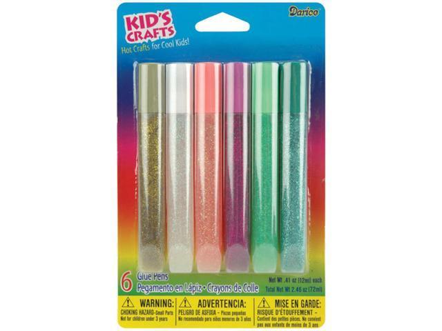 Glitter Glue Pens .41oz 6/Pkg-Bright