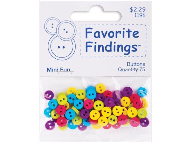 Favorite Findings Mini Buttons 75/Pkg-Fun