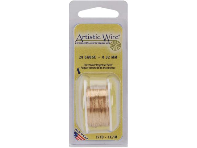 Artistic Wire 28 Gauge 15yd-Non-Tarnish Brass