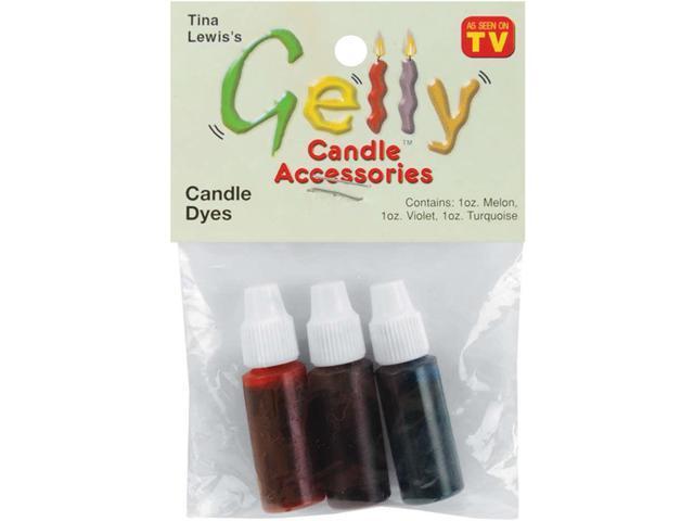 Gelly Candle Dye Assortment .1oz 3/Pkg-Violet, Turquoise & Melon