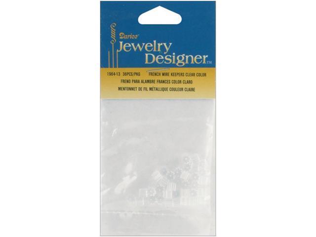 French Wire Rubber Earring Backs 36/Pkg-Clear
