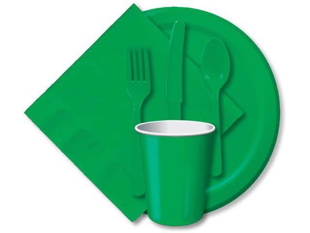 Paper Hot & Cold Cups 9oz 24/Pkg-Emerald Green