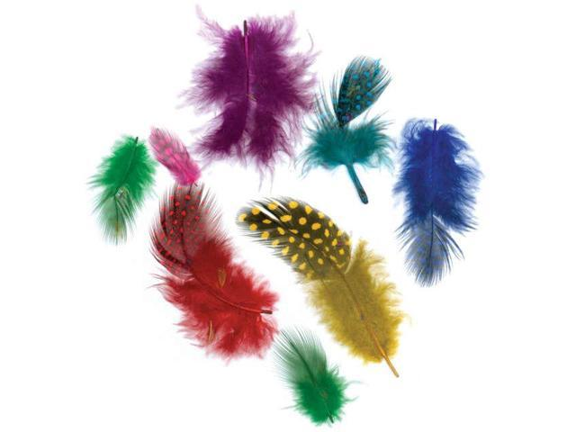 Guinea Hen Plumage Feathers .1oz-Vibrant