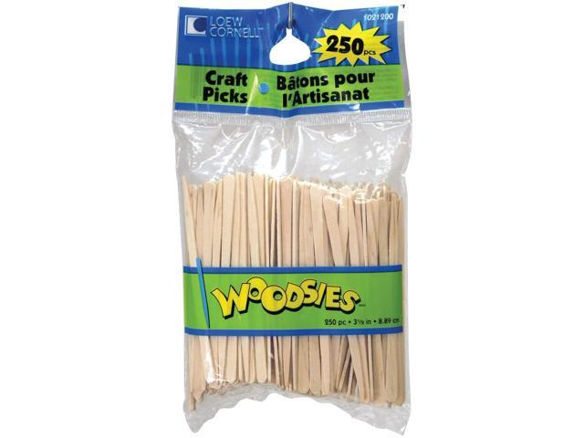 Woodsies Craft Picks-Natural 3.5