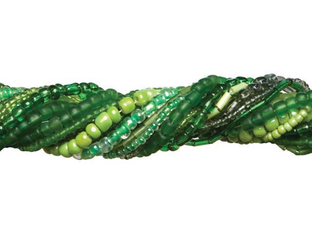 Jewelry Basics Glass Seed Bead Mix 90g-Green