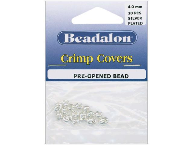 Silver-Plated Crimp Covers-4mm 20/Pkg