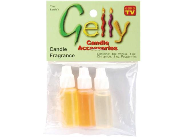 Gelly Candle Fragrance Assortment .1oz 3/Pkg-Cinnamon, Vanilla & Peppermint