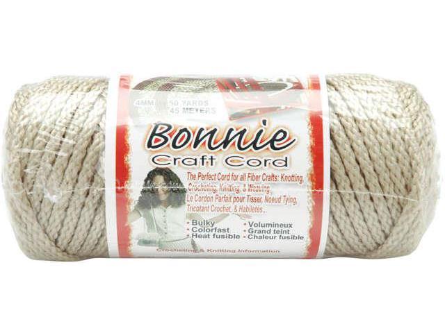 Bonnie Macrame Craft Cord 4mmX50yd-Pearl (Beige)