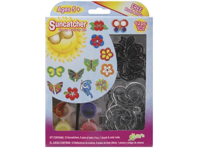Suncatcher Group Activity Kit-Butterflies & Flowers 12/Pkg