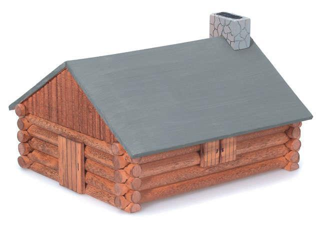 Wood Model Kit-Log Cabin