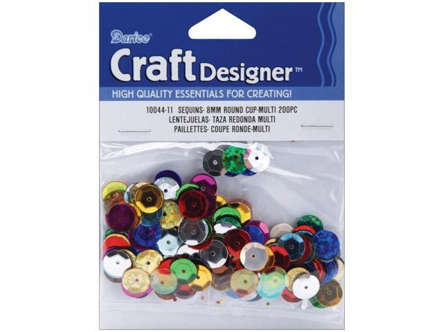 Cupped Sequins 8mm 200/Pkg-Multi