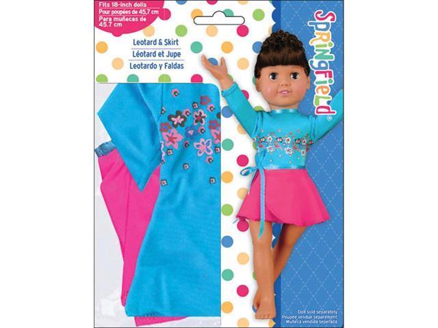 Springfield Collection Leotard & Skirt-Pink & Blue