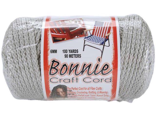 Bonnie Macrame Craft Cord 6mmX100yd-Shadow Gray