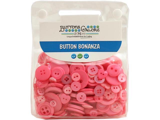 Buttons Galore Button Bonanza-Brilliant Pink
