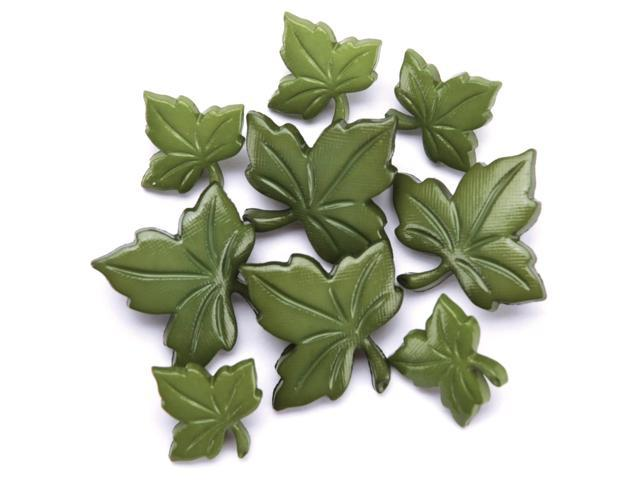 Favorite Findings Buttons-Ivy Leaves 8/Pkg
