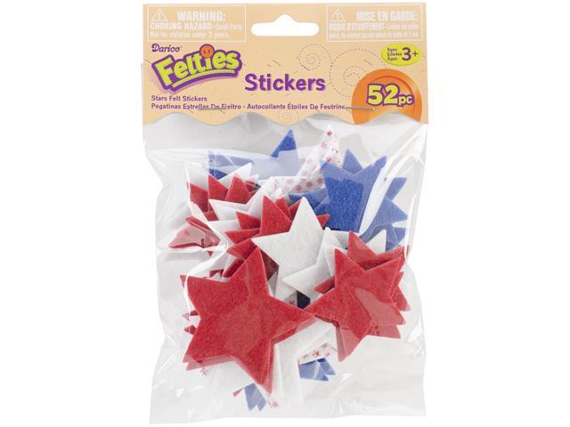 Felties Stickers 52/Pkg-Stars W/Prints