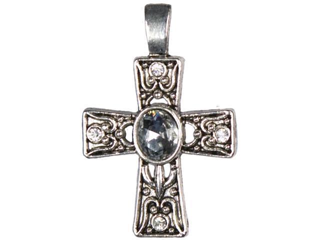 Jewelry Basics Metal Accent 1/Pkg-Silver Deco Cross