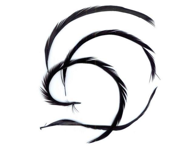 Goose Biot Feathers .15oz-Black