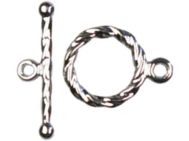 Jewelry Basics Metal Findings 10/Pkg-Silver Rope Toggles