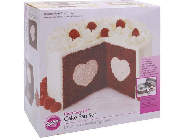 Tasty-Fill Cake Pan Set-Heart 8.5