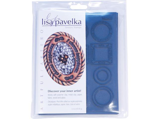 JHB LP27327 Lisa Pavelka Stamp Set 4.25 in. X5.5 in.  Sheets 2-Pkg-Artful