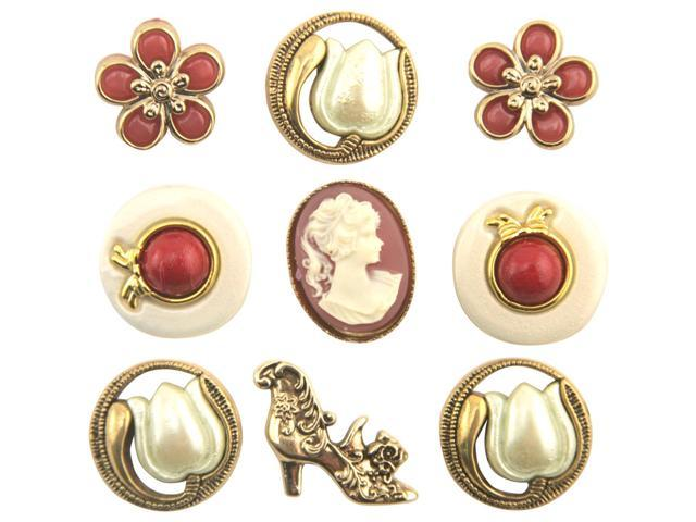Button Theme Pack-Victorian Treasures