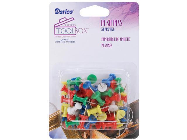 Push Pins 50/Pkg-Assorted Colors