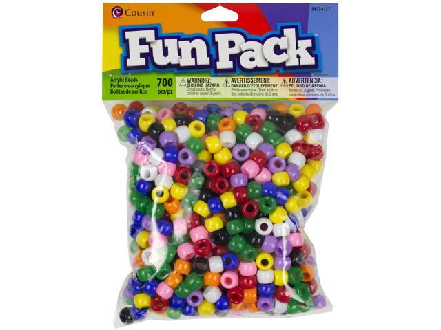 Fun Pack Acrylic Pony Beads 700/Pkg-Rainbow