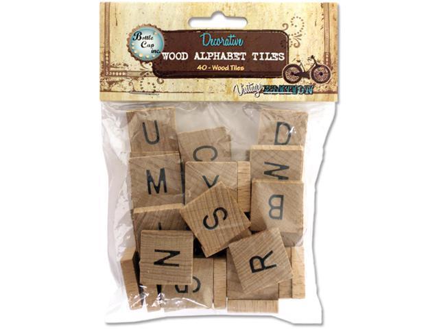 Salvaged Wood Alphabet Tiles .75