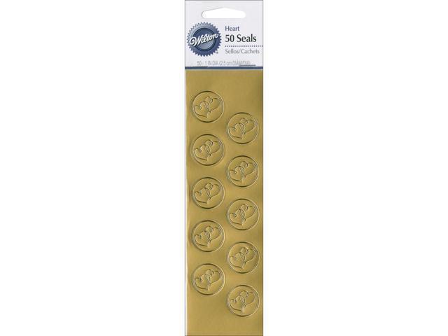 Seals 50/Pkg-Gold Heart